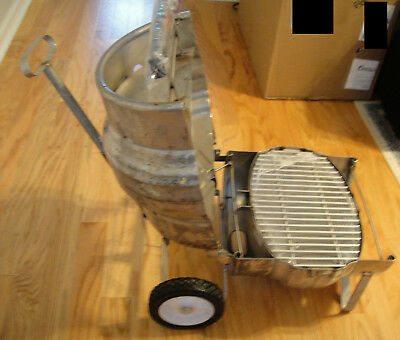 COORS Beer Quarter KEG Recycled into a NEW GRILL. OLD AUTHENTICCOLLECTIBLE!