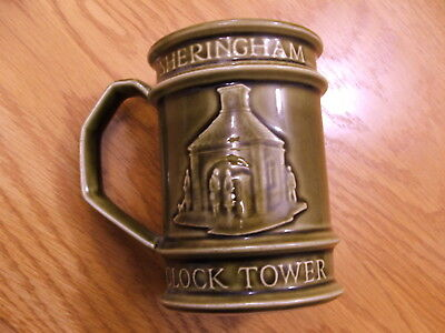 Holkham Pottery Green Mug - Sheringham Clock Tower & Life Boat