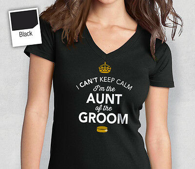 Aunt Of The Groom T Shirt Bridal Gift Present Hen Do Wedding Party