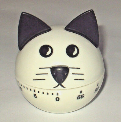 """we Can Cook""  60 Minute Novalty Cat Windup Kitchen Egg Timer Clockwork Movement"