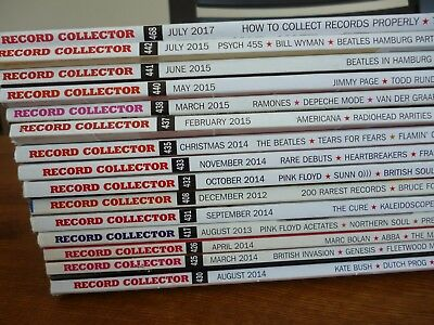 Record Collector Magazine - Large lot of 30 issues from UK - 2012 to 2017