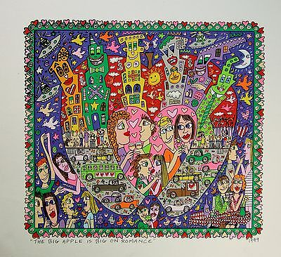 James Rizzi The Big Apple is big on Romance - Farblithografie
