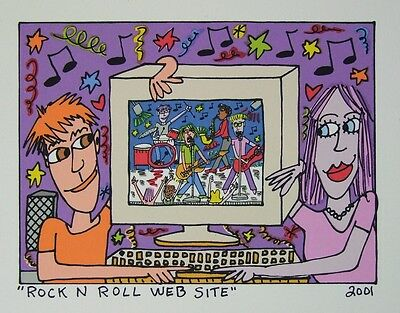 James Rizzi Rock N Roll Website - Farblithografie