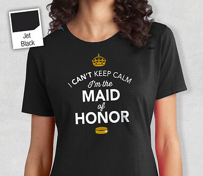 Maid Of Honor T Shirt Bridal Gift Present Hen Do Wedding Party
