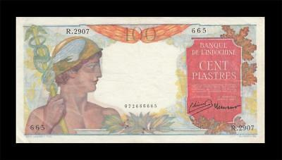1949 French Indochina 100 Piastres France **rare** (( Ef ))