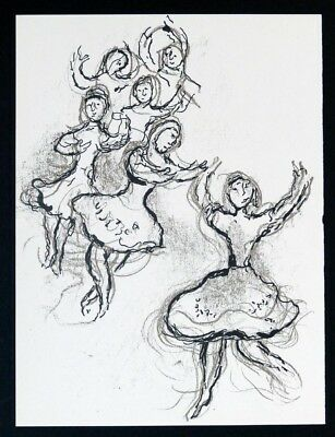 CHAGALL, The Ceiling of the Paris Opera- Lithographie - Kunstdruck