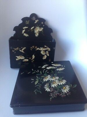 Antique Japanese Lacquer Box And Letter Holder