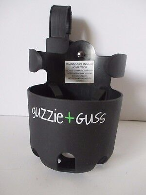 Guzzie+Guss Universal Cup Holder Black Fits Most Strollers