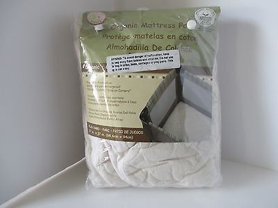 "Snoozy Cotton Waterproof PlayYard Pad Baby Organic Mattress Pads Crib 27""x 37"""