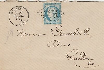 1873 Lettre Martele Lot 25C Ceres Sup