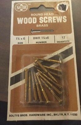 Sbh - Round/flat Head Wood Screws Brass