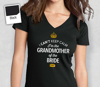 Grandmother Of The Bride T Shirt Bridal Gift Present Hen Do Wedding Party
