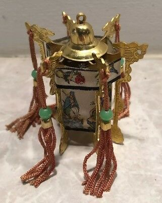 "Vtg Chinese Asian Palace Lantern Ornament 2"" As Is"