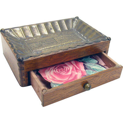 Oak Sewing Box from Chicago World's Fair - Women's Building - 1893