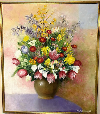 OIL PAINTING LARGE Signed JOHN HARCOURT STUNNING  From a french gallery C1960'S