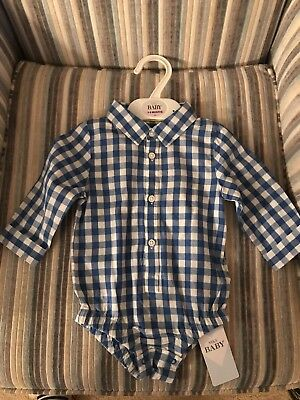 Baby Boys Checked Shirt M&S 3-6 Months