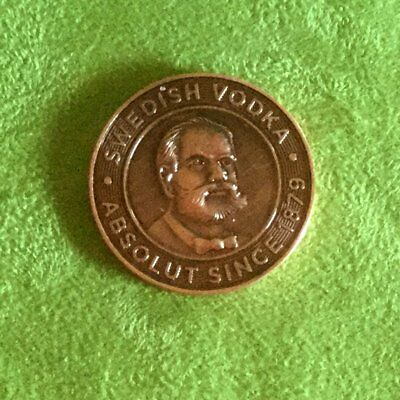 Swedish Vodka Absolute Moscow Mule Collectible Token