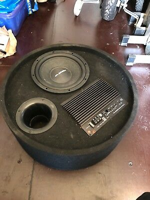 gladen rs10 rb active subwoofer round box wheel well