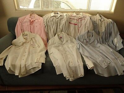 Men's Western Style Square Dance Shirts - Lot of 7