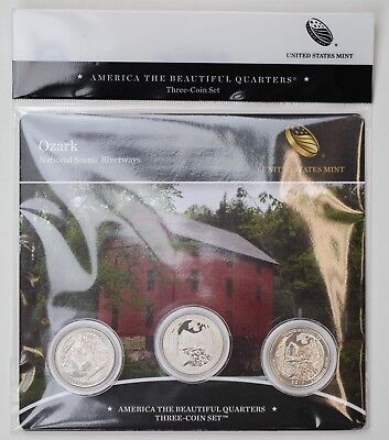 2017 Ozark National Scenic Riverways (Missouri) Quarters 3-Coin Set (PDS)