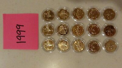Coins: Gold plated State Quarters- 1999 to 2004 and 2006 (105 coins total)