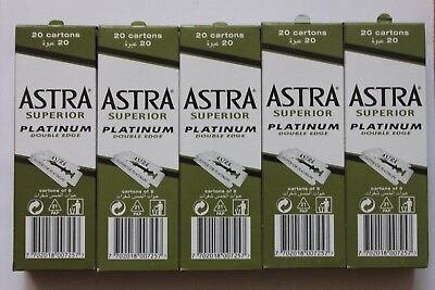 Astra Superior Platinum Double Edge Razor Shaving Blades