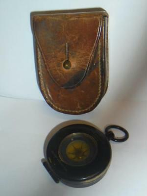 Vintage  Compass In Leather Case - Short & Mason London