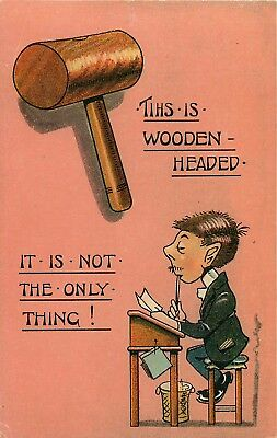 VINTAGE COMIC UNSIGNED McGILL ? THIS IS WOODEN HEADED