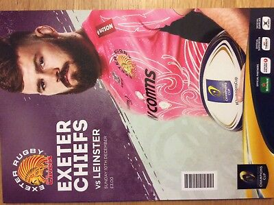 Exeter Chiefs  V Leinster Match Programme 10/12/17 European Champions Cup