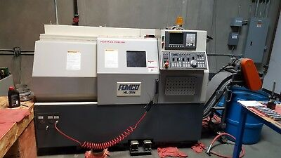 2012 Femco HL-25 CNC Lathe USED condition but w/ tool preset & Chip conveyor