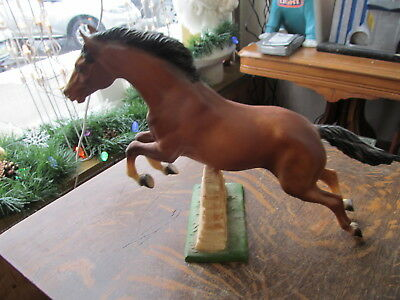"Vintage Breyer Horse Stallion Jumping Stone Fence Wall 9 1/2"" High 14"" Long"