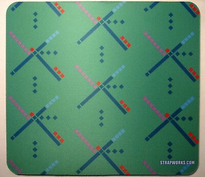 PDX Carpet Mouse Pad - Portland Airport classic - neoprene printed pad, New!