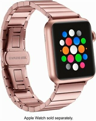 Platinum Link Stainless Steel Band for Apple Watch All Series (38mm , Rose Gold)