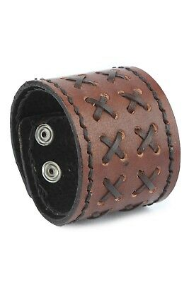 Genuine Leather Cuff Bracelet Casual Wrist Band Christmas Gift Holiday Sale!
