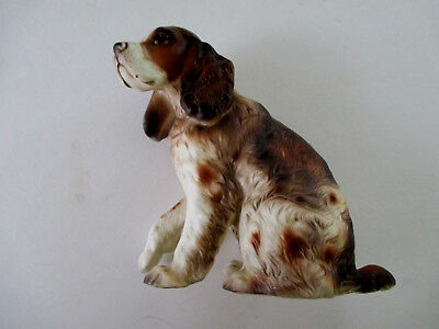 Vintage Lefton Springer Spaniel Hand Painted Ceramic Dog Figurine C6538
