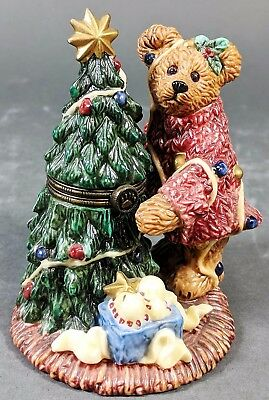 The Boyds Collection - Boyds Bear with Christmas Tree Trinket