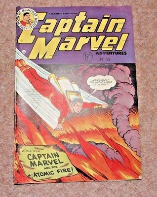 Vintage Captain Marvel Adventures Comic No.66 - 1951