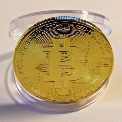 BITCOINS! Gold Plated Fast Shipping Bitcoin .999 Fine Physical Coin Bit