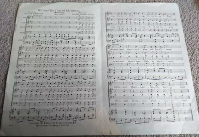 """We Love The Time Of Christmas"", Christmas Carol SATB/piano  Vintage Sheet Music"