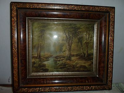 Deep dish /shadow box picture frame, scene, 8  by 10 inches, BEAUTIFUL ! # 937