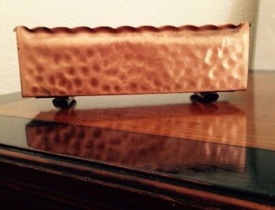 Gregorand hand hammered Copper planter with rolled edges and rolled feet. Measur