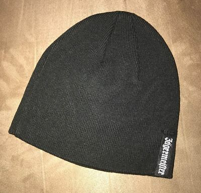 Jagermeister Knit Beanie Black Winter Hat With White Logo NEW