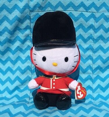 TY Hello Kitty Royal Guard U.K. EXCLUSIVE PALACE GUARD WITH TAG Original Beanies