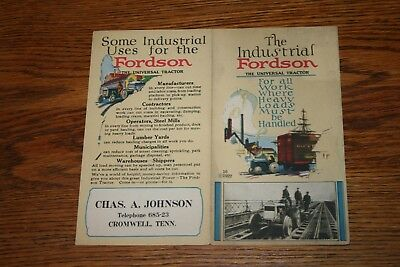 1922 The Industrial Fordson Universal Tractor Advertising Sales Brochure