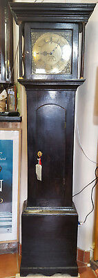 Antique 18thC Brass Faced Grandfather Clock John Whitfield - Clifton in Cumbria