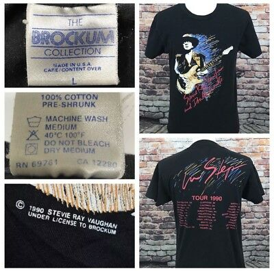 Stevie Ray Vaughan and Double Trouble Shirt In Step Concert Tour 1990 L (fits M)