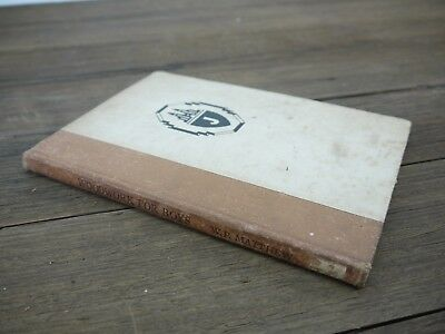"""Rare Vintage 1950 """"Woodwork For Boys"""" W.P.MATTHEW Project for Young Boys"""