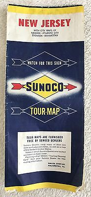 Vintage Sunoco New Jersey road map