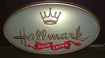 Hallmark Gold Crown Store Sign Rare Authentic Store Fixture Sign Ln ! Nr!
