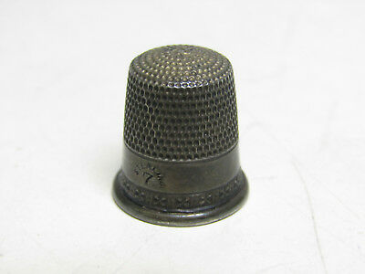 Vintage Antique Sterling Silver Jewelry Thimble Needle Sewing Crafts Engraved